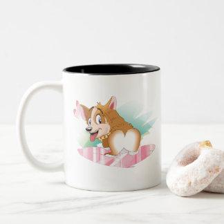 Corgi Valentine Two-Tone Coffee Mug