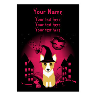 Corgi Witch Business Cards