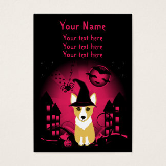 Corgi Witch Business Card