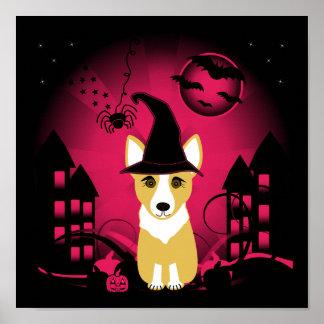 Corgi Witch Posters