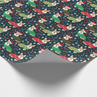 corgi xmas sweaters wrapping paper