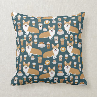 Corgis and Coffees Pillow - cute corgi gift