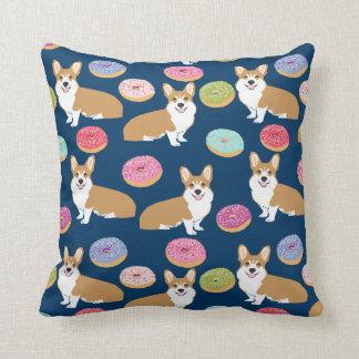 Corgis and Donuts Throw pillow - cute corgi gift