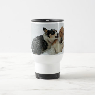 Corgis at Play Travel Mug