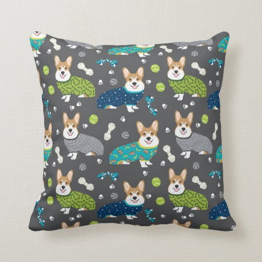 Corgi's in Pjs pillows