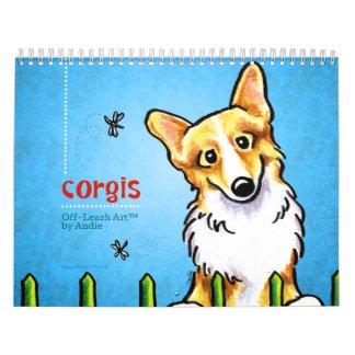 Corgis Off-Leash Art™ Vol 1 Calendars