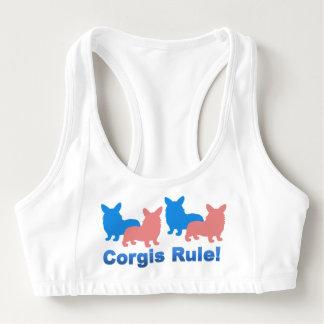 Corgis Rule Sports Bra