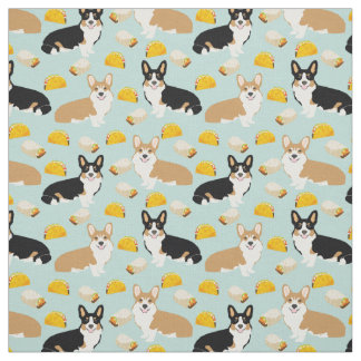 Corgis Tacos Fabric - cute corgi pattern