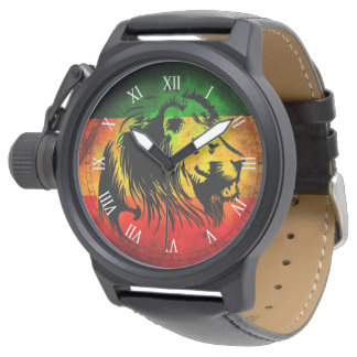 cori rasta reggae graffiti flag lion watch