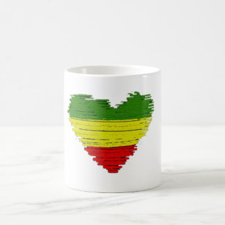 Cori Reith Rasta reggae one love hearts Coffee Mug