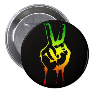 Cori Reith Rasta reggae peace 3 Inch Round Button