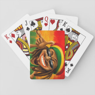 Cori Reith Rasta reggae peace face Playing Cards