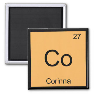 Corinna Name Chemistry Element Periodic Table Magnets