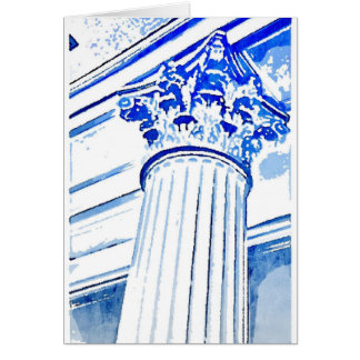 Corinthian Column Note Card