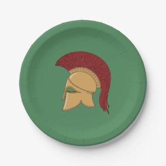 Corinthian Helmet Paper Plate