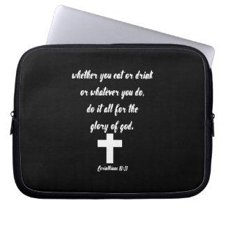 Corinthians 10:31 computer sleeves