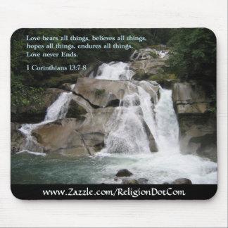 Corinthians 13:7-8  Waterfall Mouse Pad