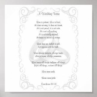 Corinthians Wedding Verse Poster