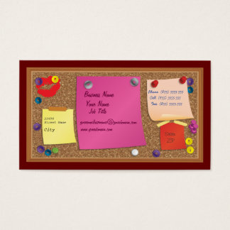 Cork Board Business Card