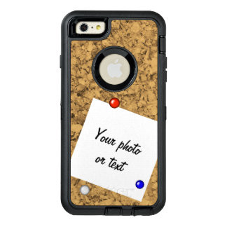 Cork board look OtterBox defender iPhone case