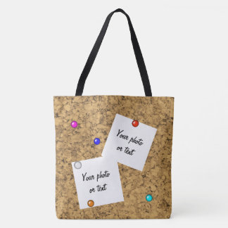 Cork board look tote bag
