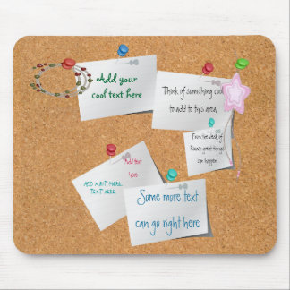 Cork Board Mouse Pad