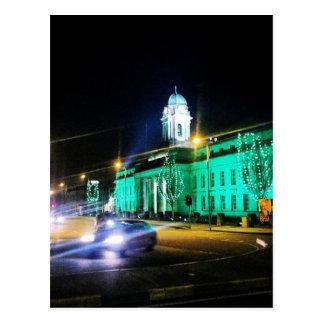 Cork City Hall, St. Patricks week, Ireland Postcard