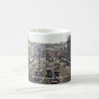 Cork city Ireland mug, vintage Patrick's Street Coffee Mug