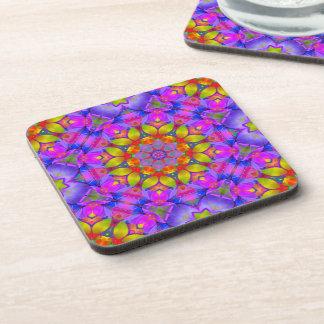 Cork Coaster Floral Fractal Art G445