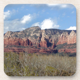 cork coasters with photo of Arizona red rocks