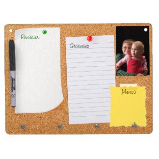 Cork Look Bulletin Board Dry Erase Board