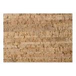 Cork-oak pattern business cards
