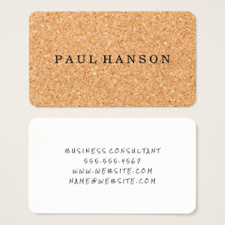 Cork Print Business Card