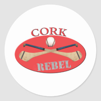 Cork Rebels Round Sticker
