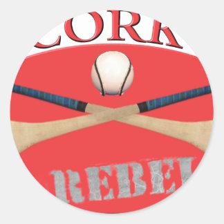 Cork Rebels Round Sticker