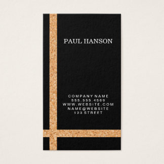 Cork Striped Accent / Black / Variation Business Card