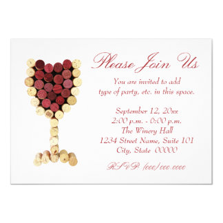 Cork Wine Glass Invitations