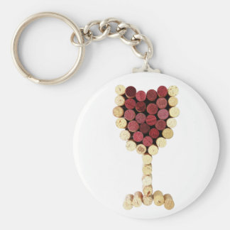 Cork Wine Glass Keychain