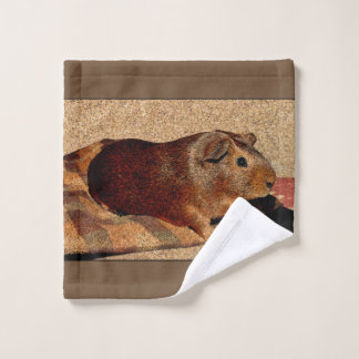 Corkboard Look Guinea Pig Bath Towel Set