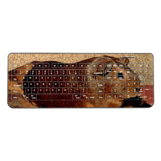 Corkboard Look Guinea Pig Wireless Keyboard