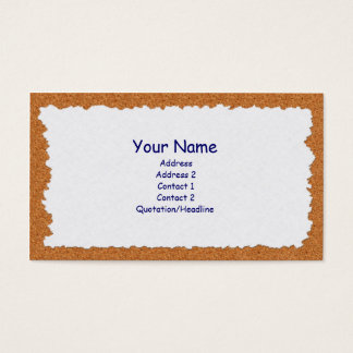 Corkboard Note Business Card