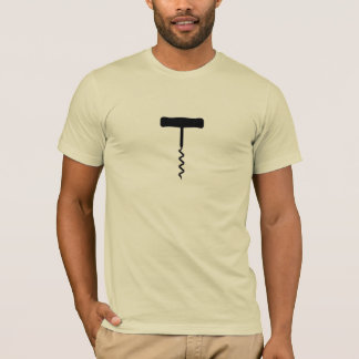 Corkscrew Black T-Shirt