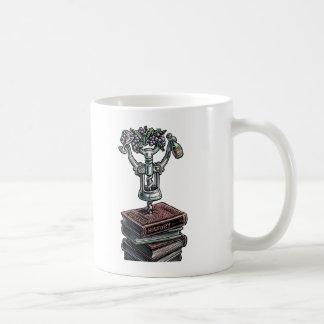 Corkscrew Drinks Wine, With History Books Coffee Mug