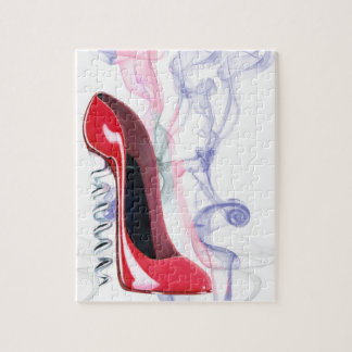 Corkscrew Red Stiletto Shoe Puzzle
