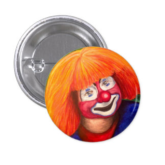 Corky The Clown 1 Inch Round Button