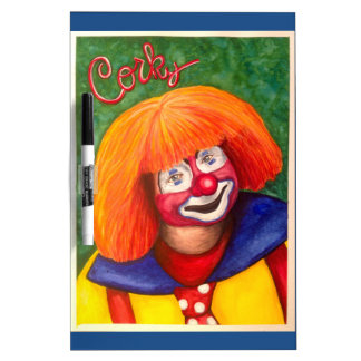 Corky the Clown Dry Erase Whiteboards