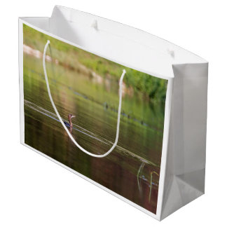 Cormorant bird swimming peacefully large gift bag