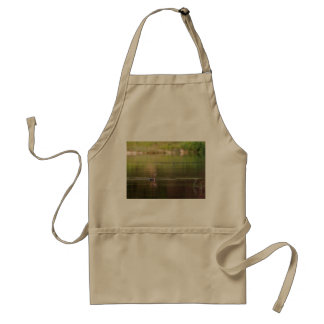 Cormorant bird swimming peacefully standard apron
