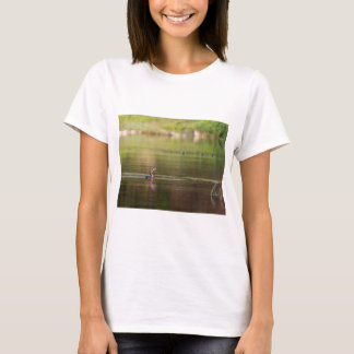 Cormorant bird swimming peacefully T-Shirt