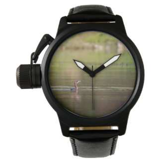 Cormorant bird swimming peacefully wrist watches